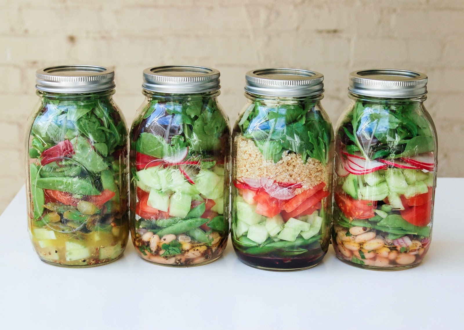 Mason Jars For Mobile Salads