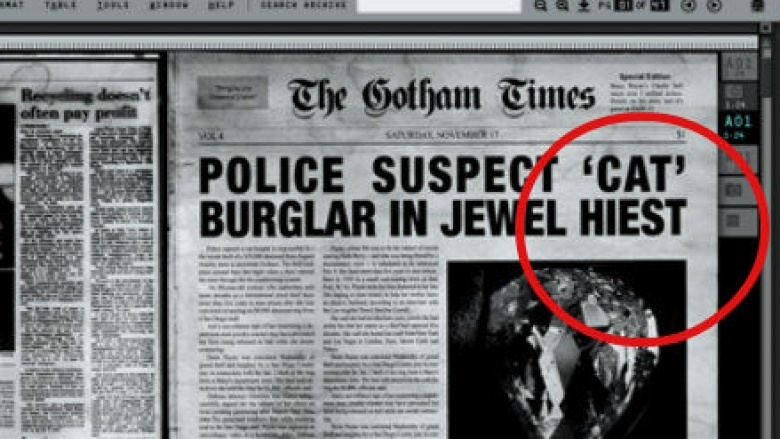 The Dark Knight Newspaper Typo