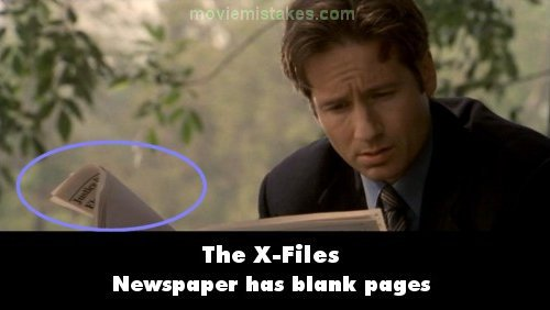 The X Files Blank Papes