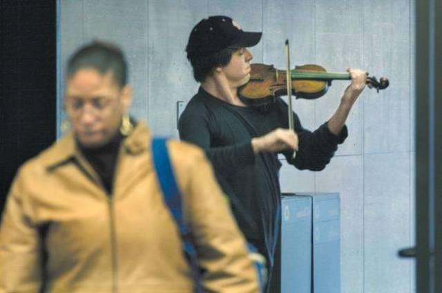 Violinist In The Subway