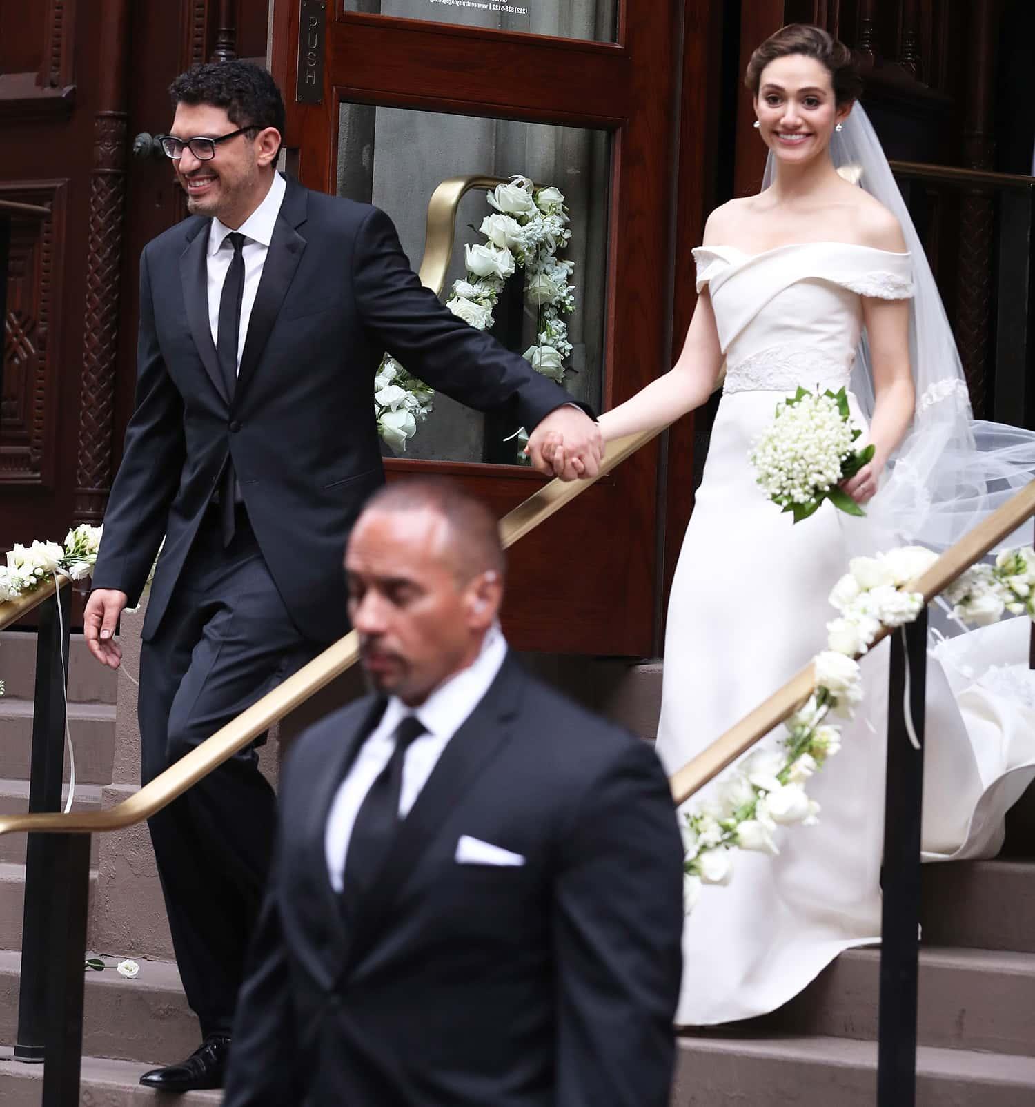 PREMIUM EXCLUSIVE: Emmy Rossum Weds Sam Esmail