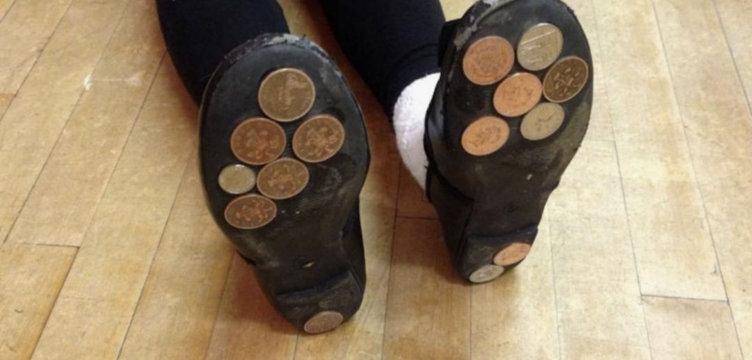 Keep Your Kids Entertained By Glueing Coins To Their Shoes